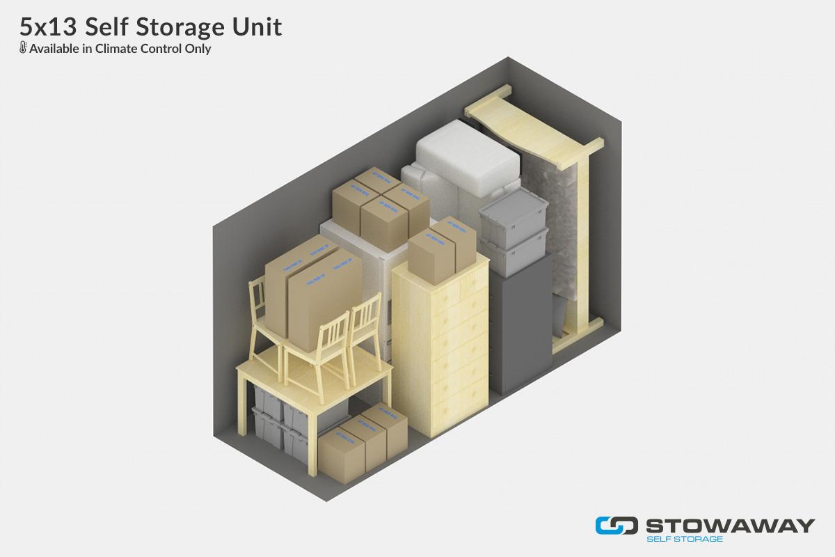 5 x 13 CC Crawl space ... & Self Storage Units Warminster PA | Stowaway Self Storage